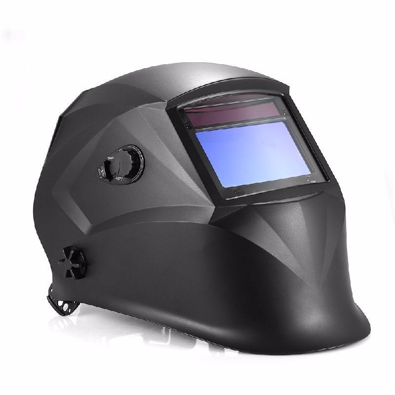 meterk Black din7 din12 shading area solar auto darkening welding helmet protection face mask welder cap for zx7 tig mig welding machine