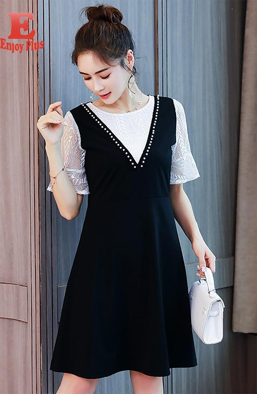 ENJOYPLUS Черный Номер М женское платье brand new 2015 vestidos 5xl s m l xl xxl xxxl 4xl 5xl