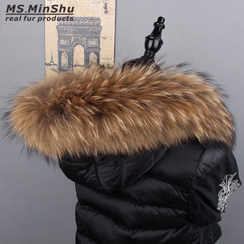 MSMinShu ореховый цвет 80см raccoon fur hats 100