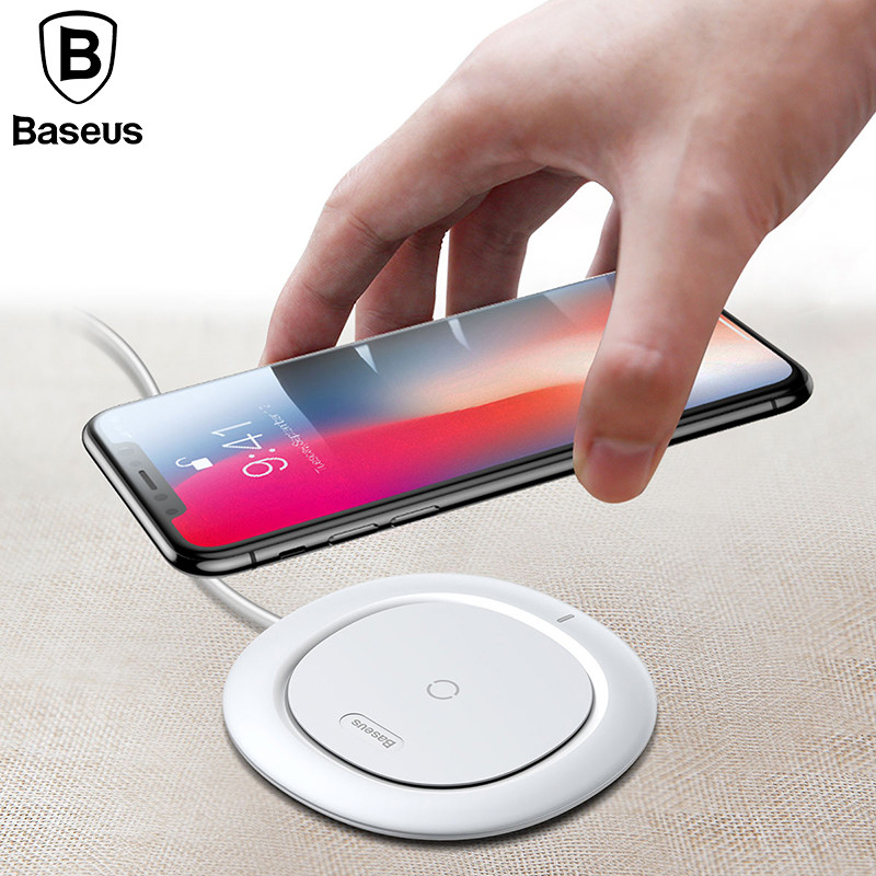 Baseus Белый aluminium qi wireless charger charging for htc nokia lg samsung galaxy s6 edge