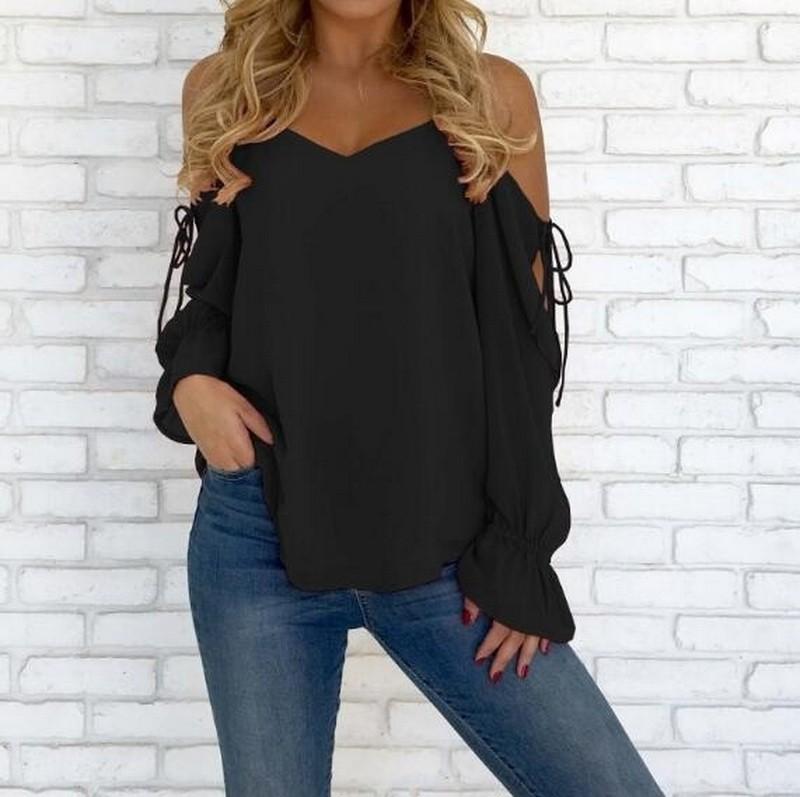 Jiesenlang черный XL йемен весна и осень рубашка женская рубашка шифон круглый воротник рубашки 8510110638 белый xl