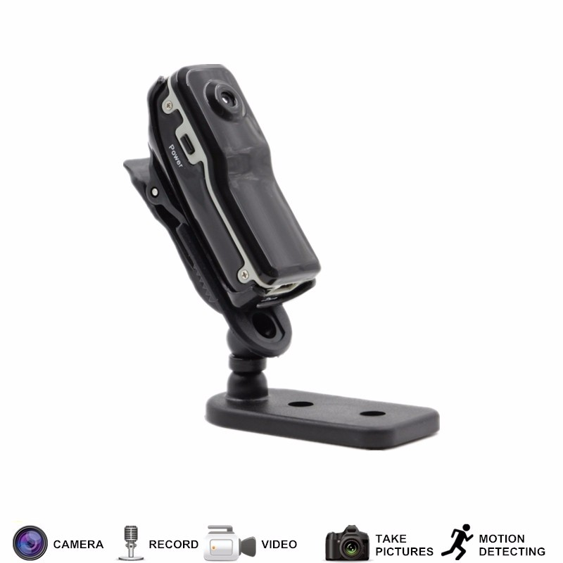 zhileyu черный MD80 mini dv md80 dvr video camera 720p hd dvr sport outdoors with an audio support and clip