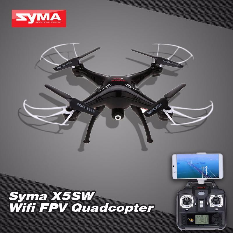 GoolRC Black professional syma x5hw rc selfie drone with camera quadcopter wifi fpv transmission remote controll dron helicopter toys for boy