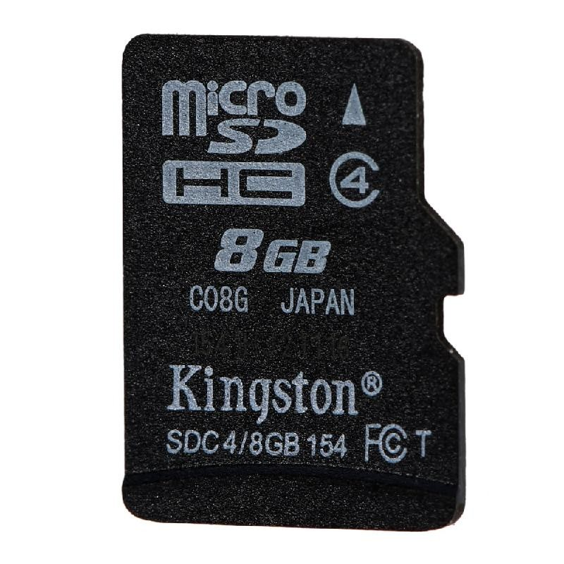 Kingston черный 8GB kingston microsdhc 8gb class 4