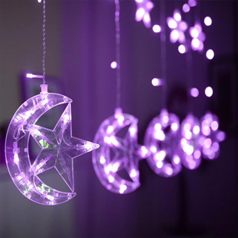 LUOMU Фиолетовый 220V EU PLUG outdoor wedding christmas led bulb string light led rainbow light waterproof led string 50m 400 led ball ac 220v