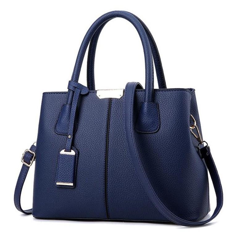 SMOOZA синий средний горячие корейской леди женщины хобо кожа pu посланника плеча сумки totes кошелек