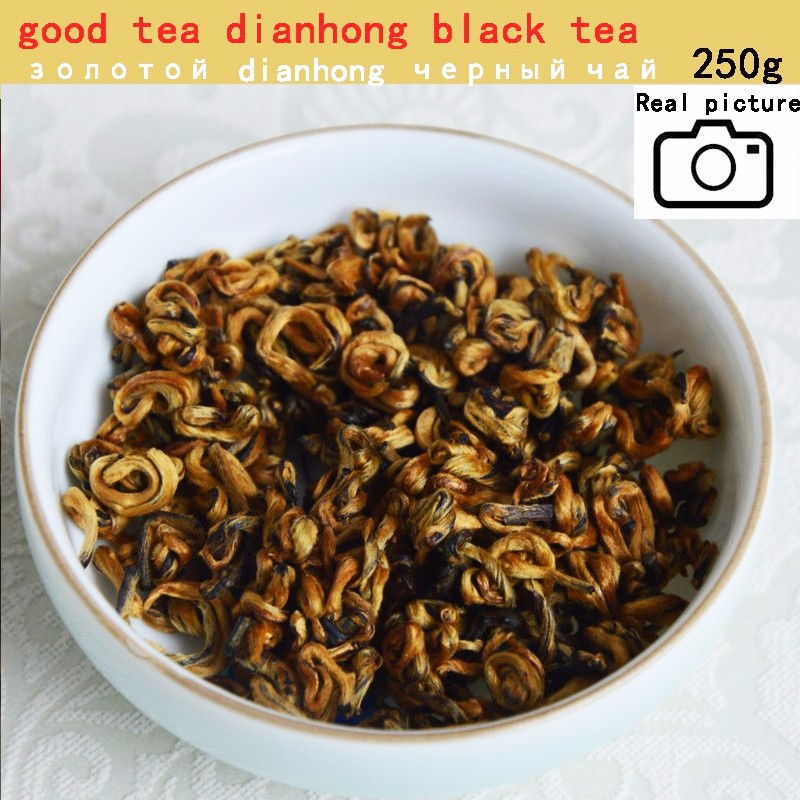 mcgretea c hc005 yunnan black tea 100g chinese kung fu cha fengqing dianhong tea red early spring honey fragrance gold buds large leaves