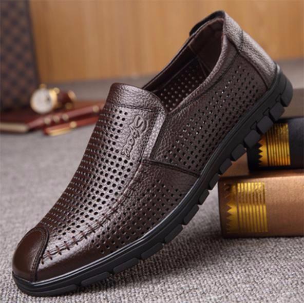 oye Brown Hollow 2 41 Кожаные туфли из натуральной кожи из кожи коровы