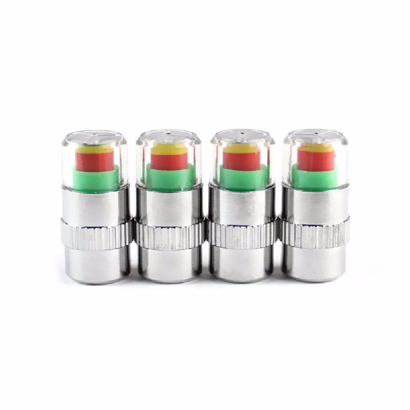 meterk Серебряный 2 0 bar 30 psi auto car tire pressure monitor valve stem caps sensor indicator alert diagnostic tools kits 4pcs