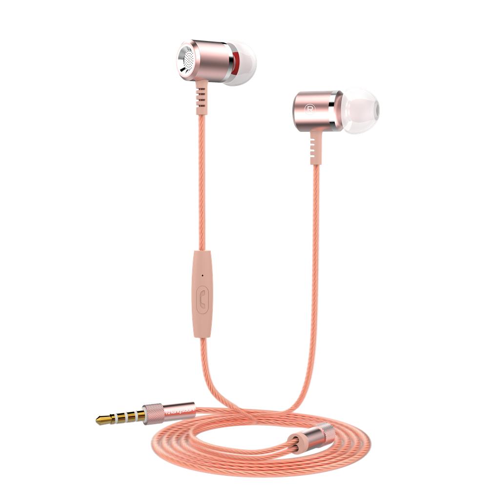GANGXUN Розовое золото langsdom jd88 super bass in ear headphones 3 5mm jack wired earbuds