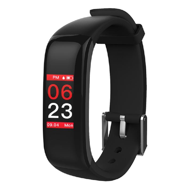 Lixada черный z8 кровяное давление watch blood oxygen heart rate monitor smart bracelet fitness tracker wristband watch