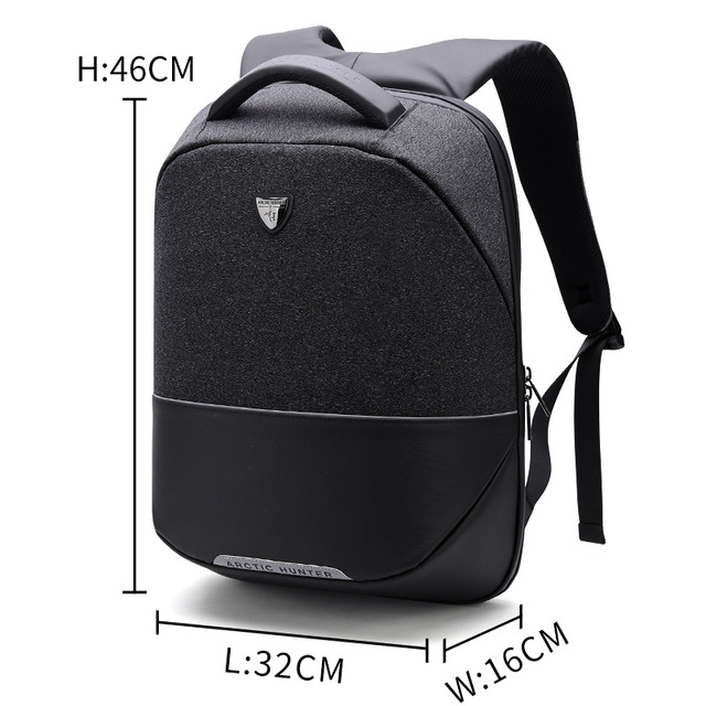 ARCTIC HUNTER черный arctic hunter business travel laptop backpack male casual black classic backpack for men women waterproof school bag