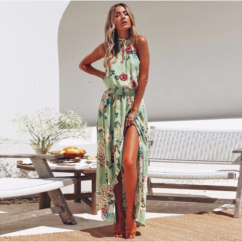 SAKAZY Светло-зеленый XL lovaru ™ 2015 летний стиль женщин моды макси платье без рукавов слэш шеи высокого качества мягкие и удобные платья горячей продажи