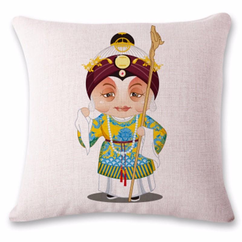 kangfeng Коричневый цвет cartoon panda print sofa cushion throw pillow case