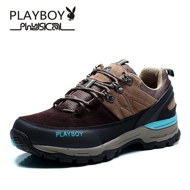 PLAYBOY Коричневый цвет 65 ярдов плейбой бренд осенью открытый скалолазания и пешие прогулки досуга для дыхания и водонепроницаемым мужские ботинки