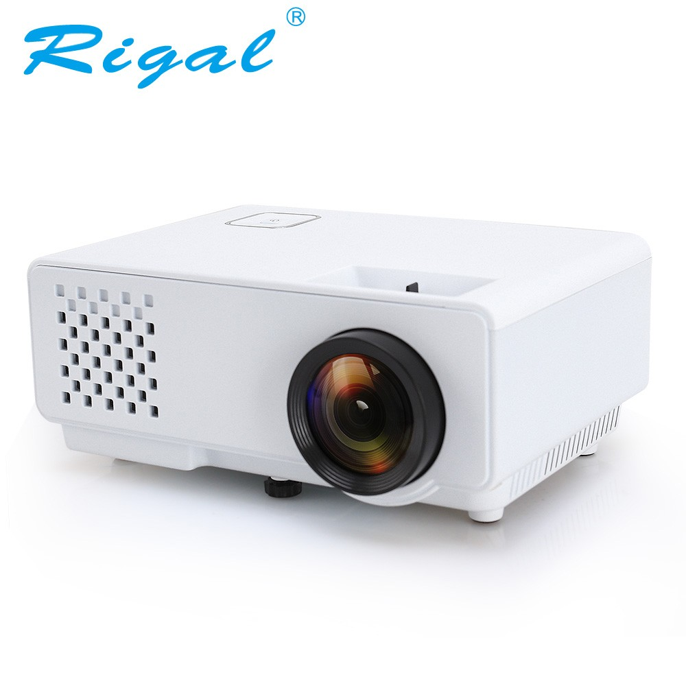 Rigal белый 1200lumens gp70 mini projector portable proyector led beamer home theatre 3d movie game video tv with hdmi vga usb better uc46