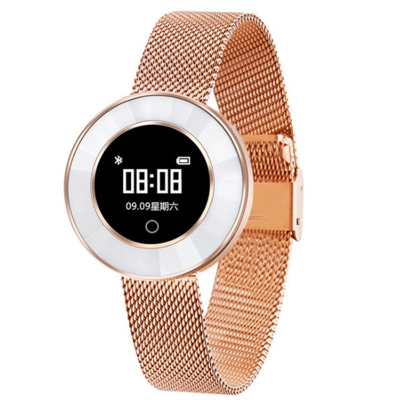 feizhouying Золотая стальная лента Смарт-браслет light therapy semiconductor blood pressure wrist watch laser therapeutic watch
