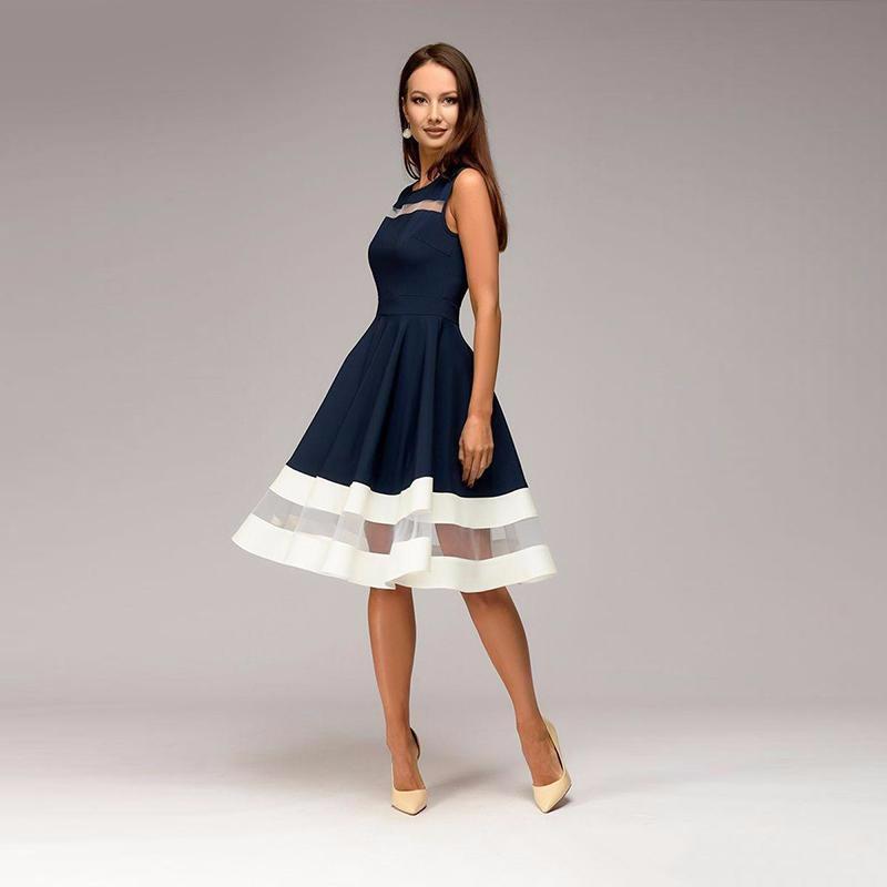 Платье платья шикарного платья женщин платья венчания платья SAKAZY Темно-синий XL фото