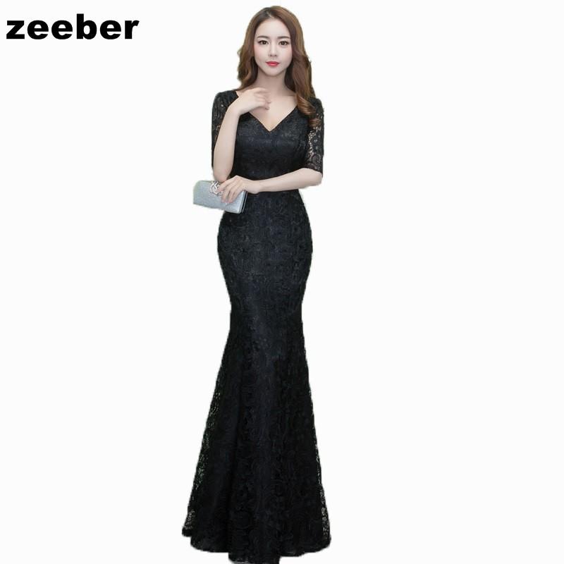 Платье выпускного вечера выпускного вечера выпускного вечера длиннее шикарное платье плюс размерное платье zeeber черный US 16W UK 20 EU 46 фото