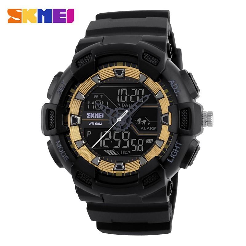 SKMEI Золотистый skmei спортивные часы кварц желтый 9106