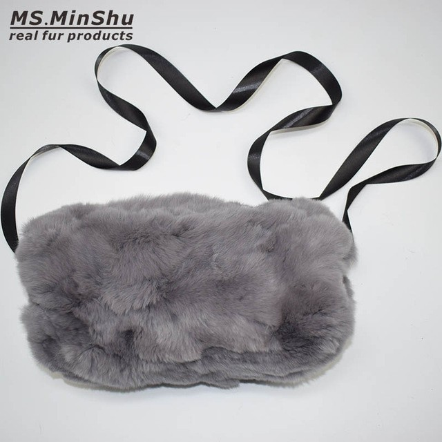 MSMinShu Серый Один размер raglaido fur hat with fox ears diamond russian winter hats for women rex rabbit fur snow caps genunie natural fur beanie lq11222
