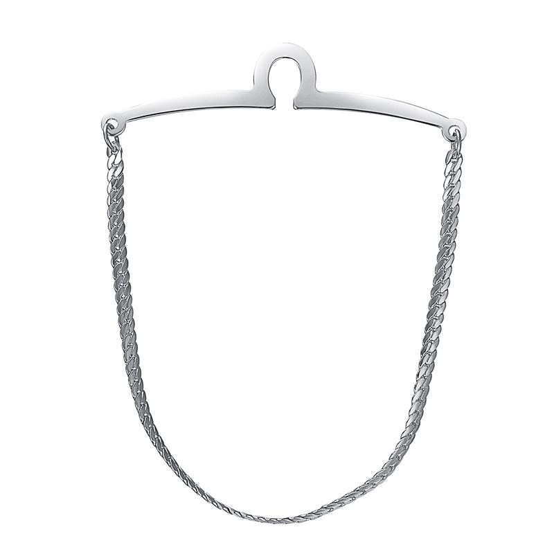 yoursfs Серебряный yoursfs® classic gold color tie фиксированная цепочка для мужчин позолоченные линк цепочка для связывания с цепочкой