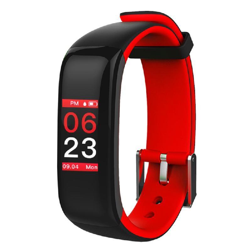 Lixada красный z8 кровяное давление watch blood oxygen heart rate monitor smart bracelet fitness tracker wristband watch
