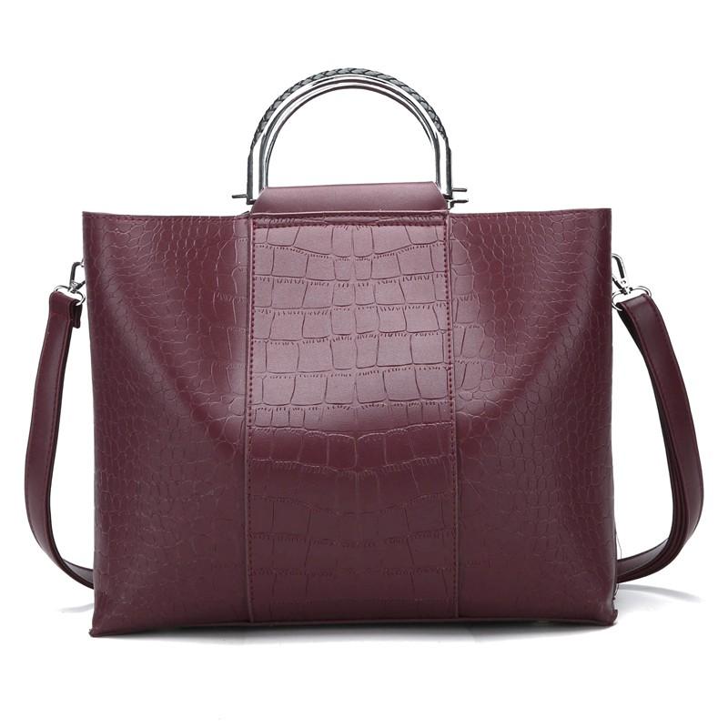 HANEROU красный женщины кожа pu плеча tote сумки хо��о сумки сумка сумка кошелек