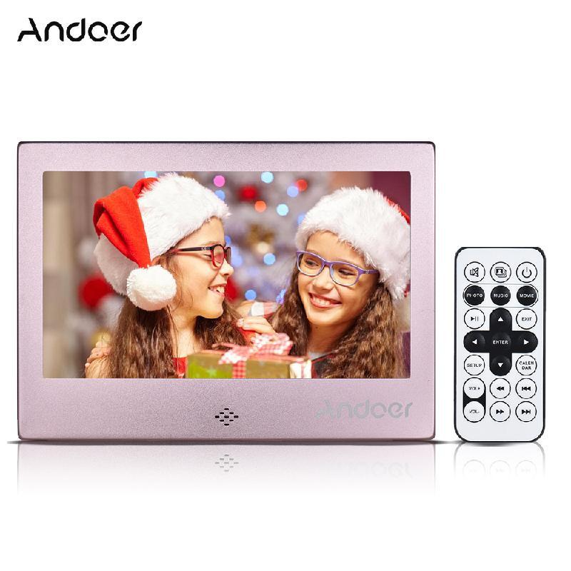 Цифровая фоторамка 10 дюймов ANDOER Розовый Стандарт США фото