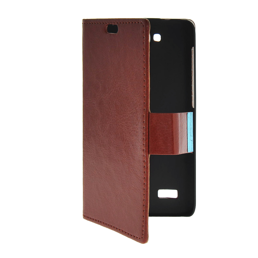 MOONCASE mooncase slim leather side flip wallet card slot pouch with kickstand shell back чехол для huawei honor 4 play red