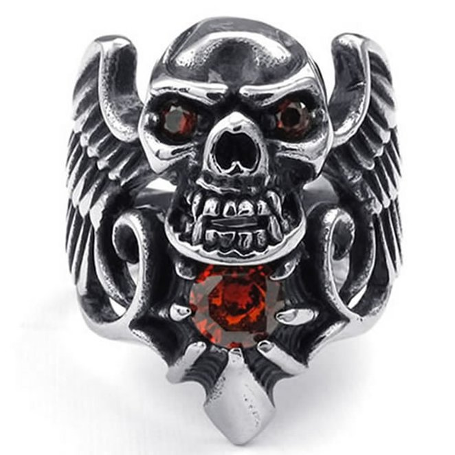 Hpolw hpolw моды с головой дракона mens кольца панк рок стиля черный камень mens кольца из нержавеющей стали кольца украшения