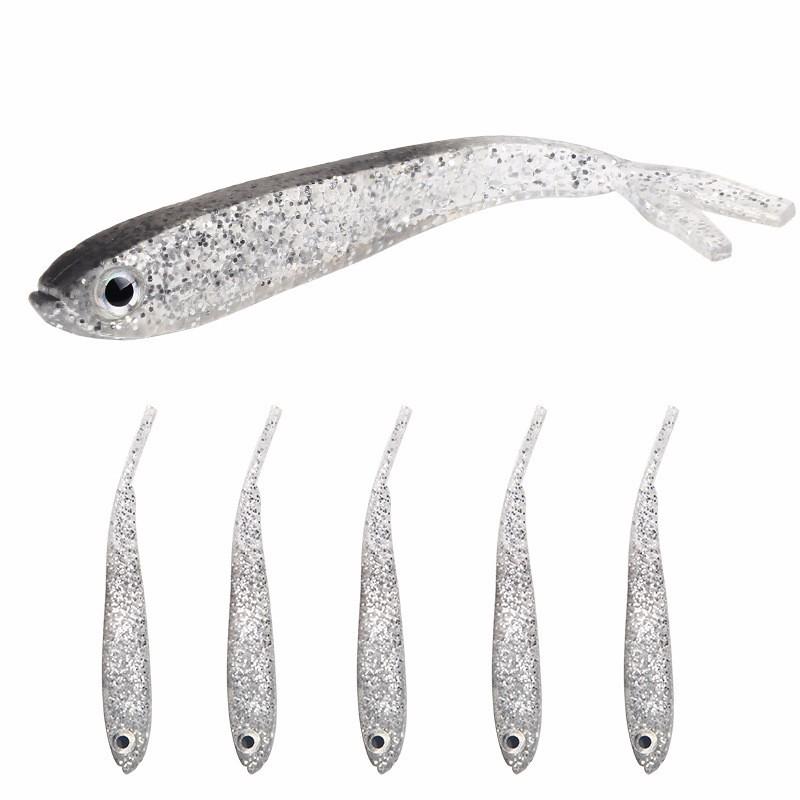 QingRX 1pc новые 6 секций приманка для рыбной ловли 0 08oz 2 35g 5cm 1 97 приманка для рыбалки с приманкой 12 черный крючок для рыбалки