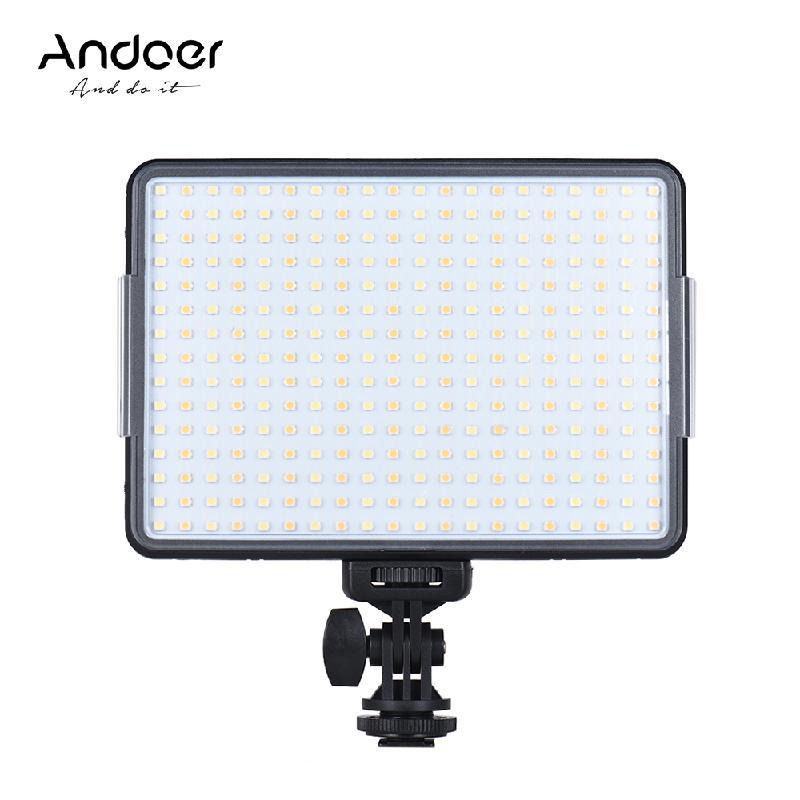 ANDOER черный nanguan cn 8f 560lm 5600k zooming focusing dimmable led fresnel light for studio video film lighting