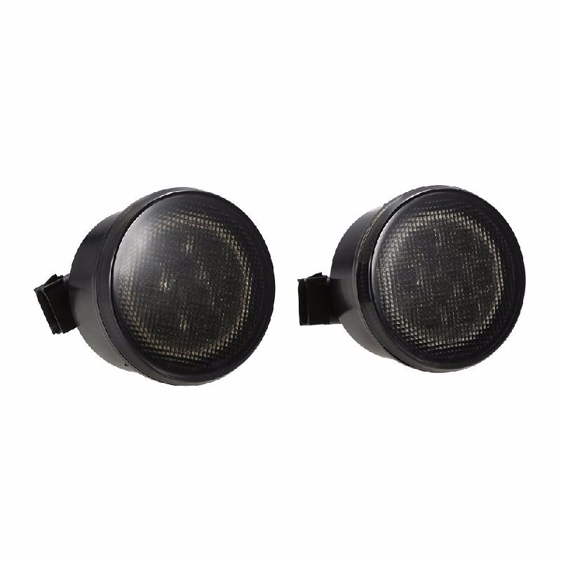 meterk Black funlight 1 pair 7 inch black round 36w led headlights with high low beam for jeep wrangler jk tj hummer h1