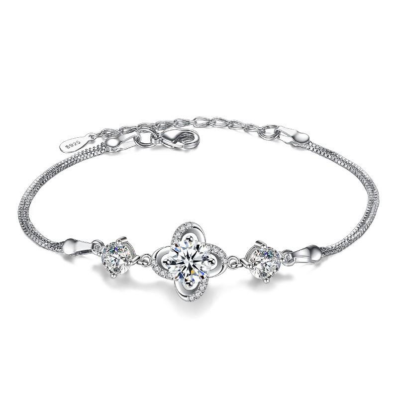 SHDEDE White модные браслеты 12 знак браслеты золото 18k platinum покрытием циркония ювелирные изделия шарма близнецы браслеты для женщин подарок на день рождения