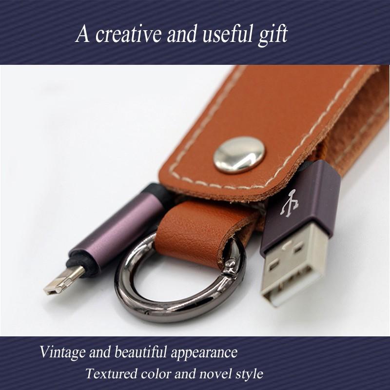 Кожа поручая линия кожаный телефон кабель кожаный кожаный свитер передачи данных кожаный материал JYSS коричневый 0,3 м фото