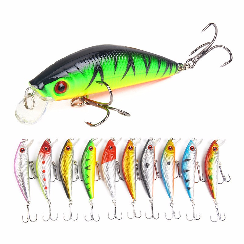 QingRX 1pc прикормы для рыбалки 6 5cm 2 6 11 83g 0 42oz лучшие рыболовные снасти 6 черный крюк 5 цветов приманка для рыбалки