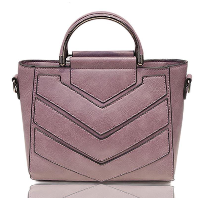 SMOOZA Светло-фиолетовый женщины кожа pu плеча tote сумки хо��о сумки сумка сумка кошелек