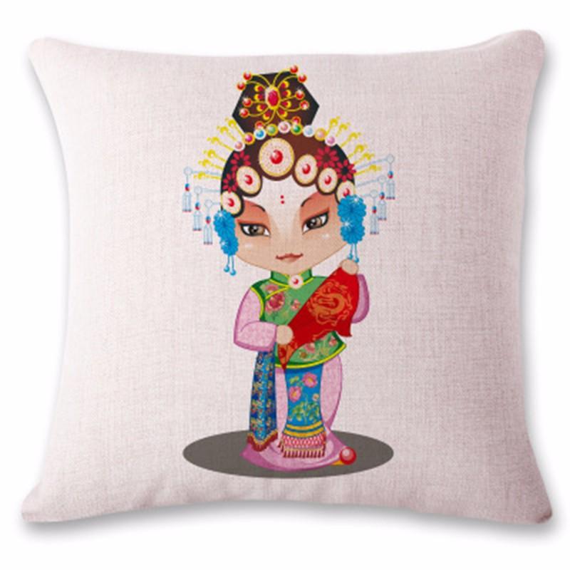 kangfeng Зелёный цвет snowman cartoon christmas cushion throw pillow case
