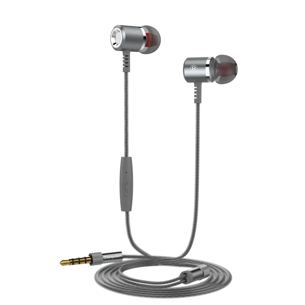 GANGXUN Black langsdom jd88 super bass in ear headphones 3 5mm jack wired earbuds