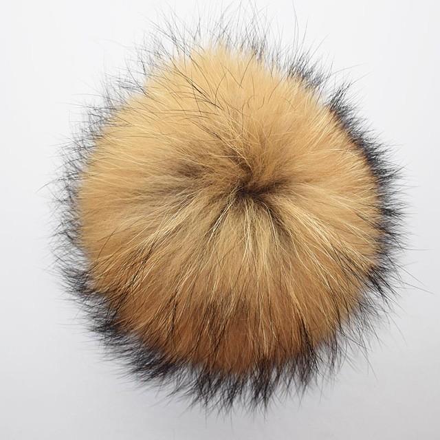MSMinShu желтый M raccoon fur hats 100
