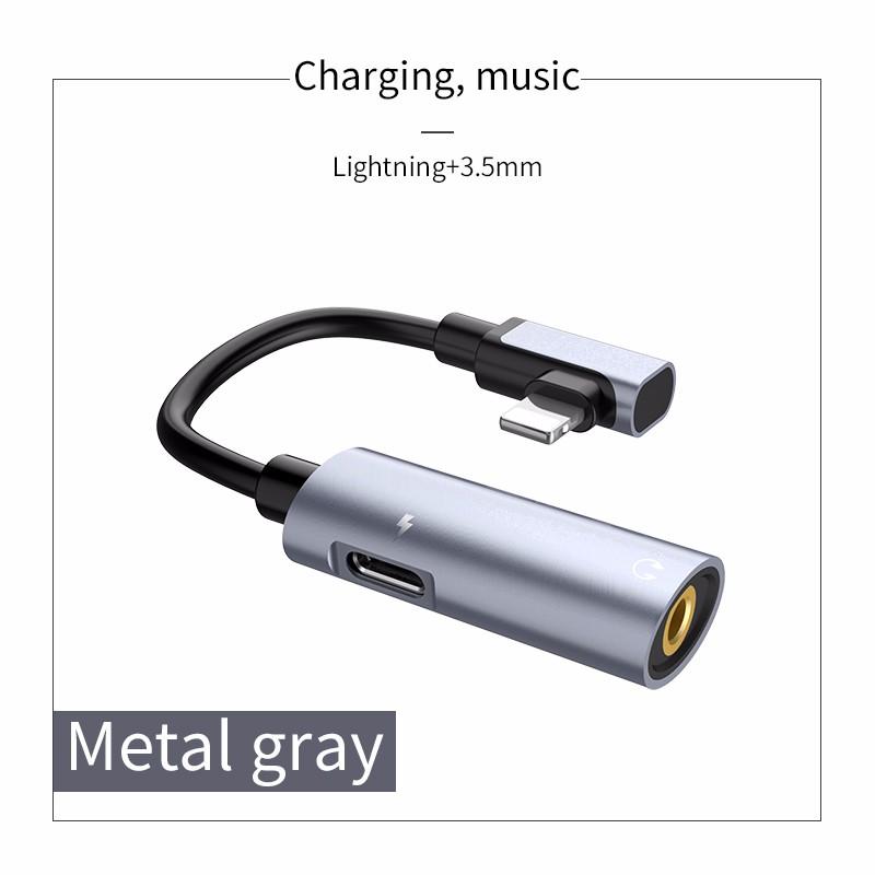HOCO Металл Серый lighning 35 м 1 шт 3 5 мм стерео аудио разъем для usb plug a v audio кабель адаптер белый