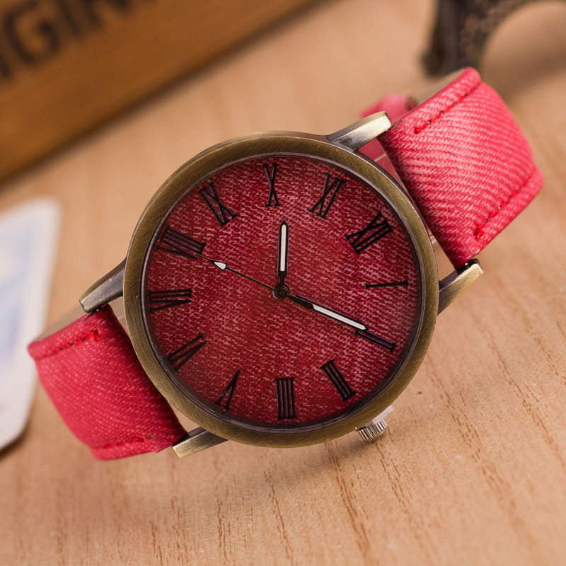 Кожаный наручные часы наручные часы наручные часы наручные часы наручные часы наручные часы наручные часы наручные CANIS Red фото