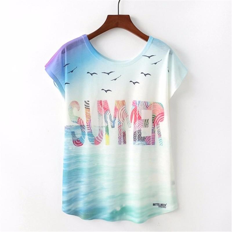 SAKAZY Другие L женская футболка other 2015 3d loose batwing harajuku tshirt t a50