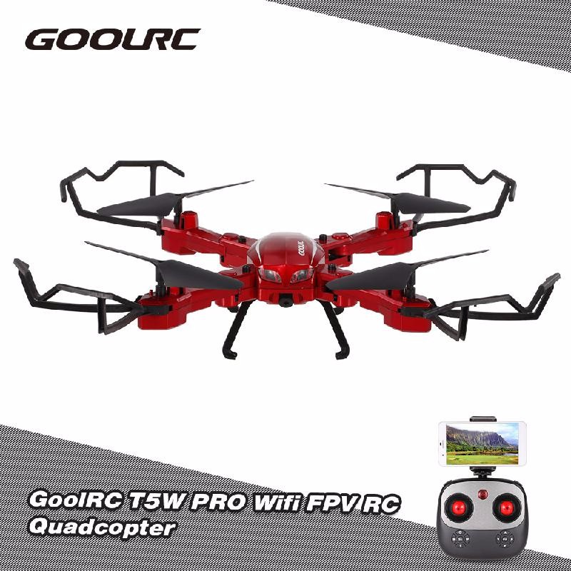 GoolRC Red 2017 hot sale hot 2 4g 4ch altitude hold hd camera wifi fpv rc quadcopter drone selfie foldable brand new high quality feb 24