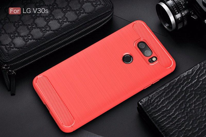 Защитная крышка для телефона LG V30S ThinQ H930DS для LG V30S ThinQ H930DS Защитная крышка для телефона для LG V30S ThinQ H930DS Корпус из тонкой брони Задняя крышка WIERSS красный для LG V30S ThinQ фото
