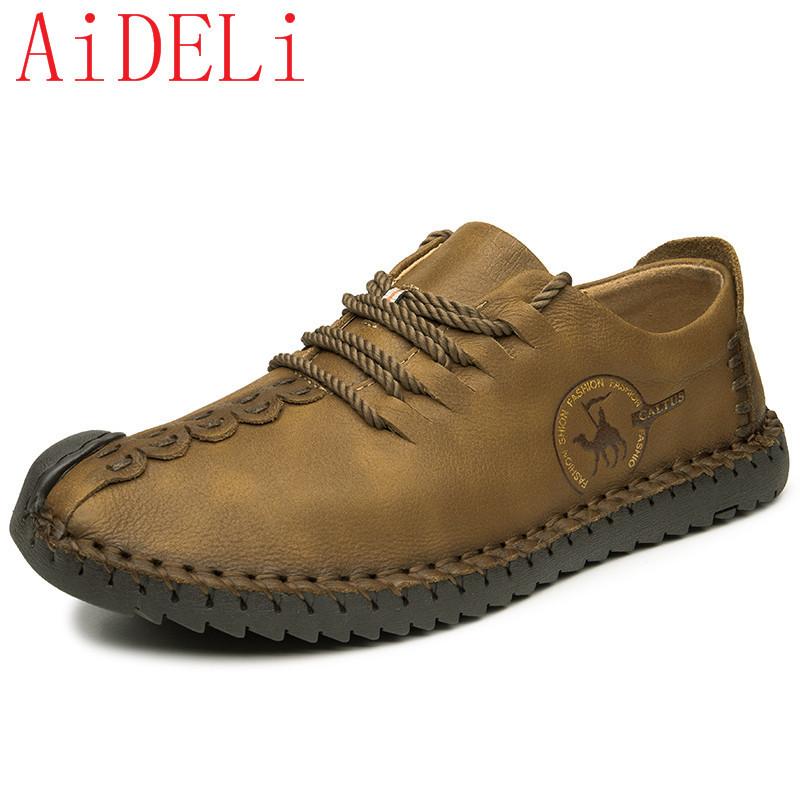 AiDELi Хаки 9 ярдов 9 кабинета досуг вентиляция мужская обуви туфли мода поп ст