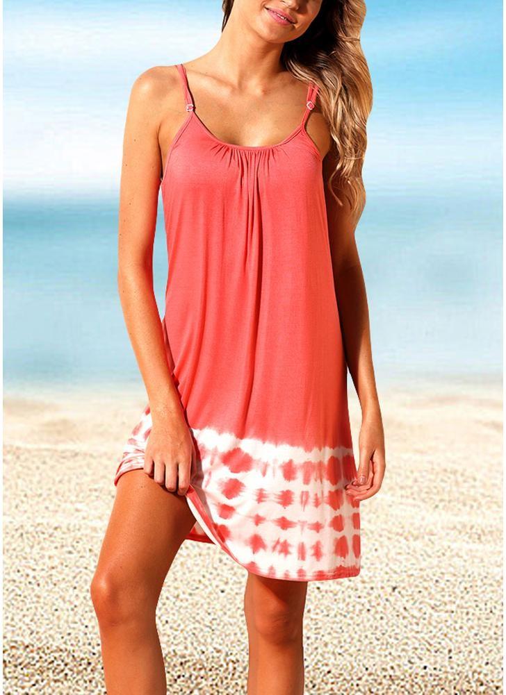 babyonline DRESS розовый XL strappy tie dye cami top