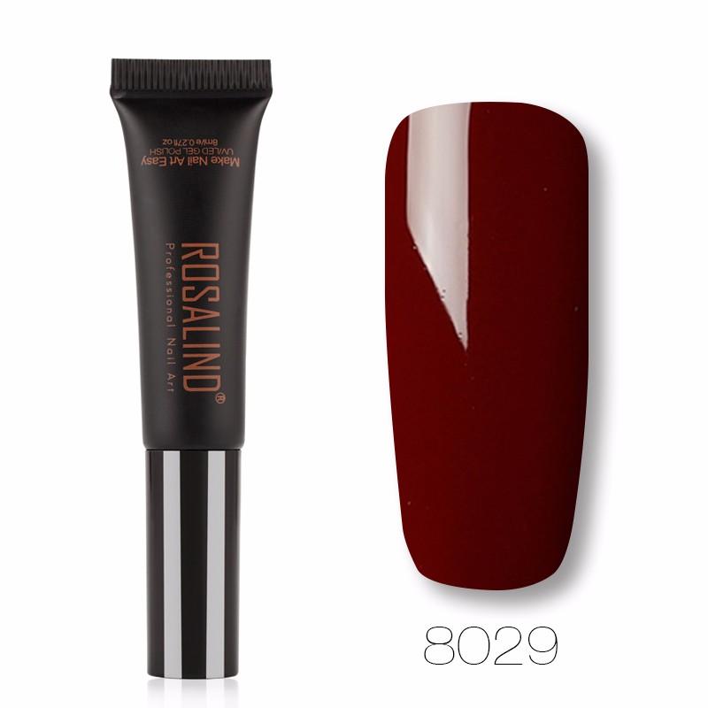 ROSALIND Темно коричневый гель лак для ногтей pupa lasting color gel 019 цвет 019 sumptuous mane variant hex name c93a56