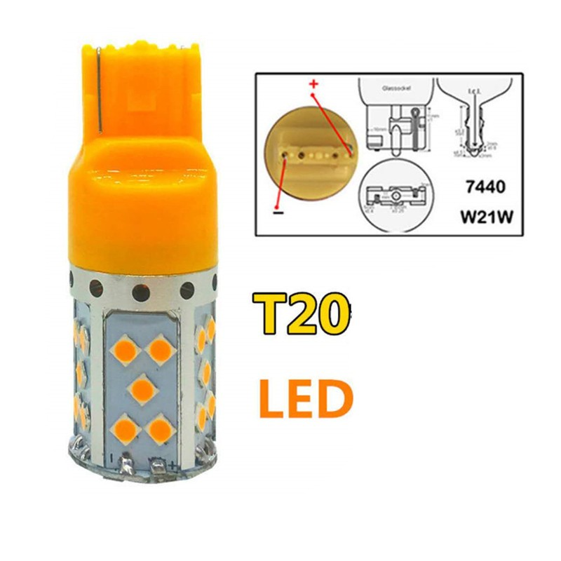 ASLED Yellow 1156 P21W aeing 1156 ba15s p21w bau15s py21w t20 7440 t25 3156 led bulb no hyper flash no error amber switchback turn signal light drl kit